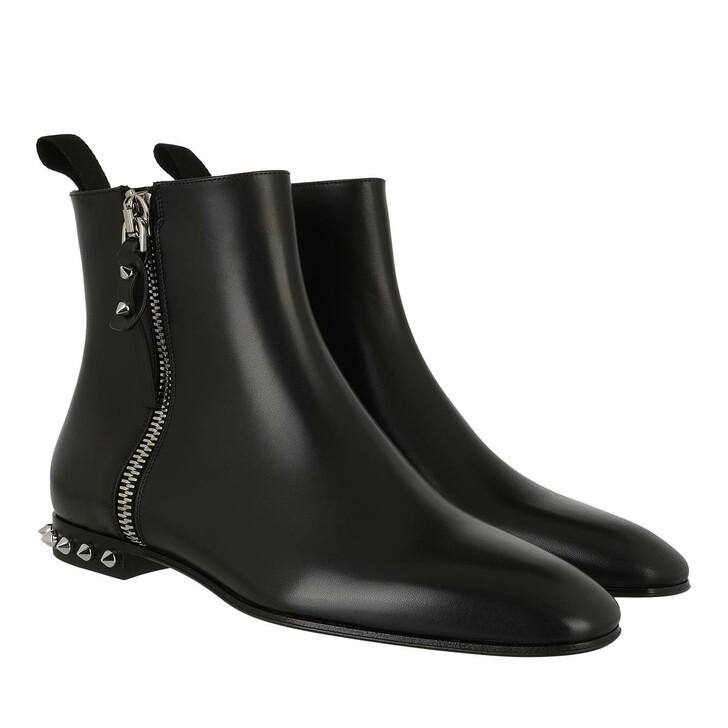 shoes, Christian Louboutin, Roadirik Donna Flat Ankle Boots Black