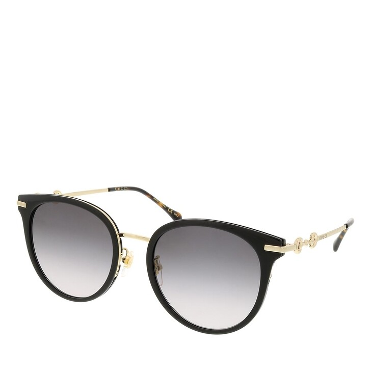 sunglasses, Gucci, GG1015SK-001 56 Sunglass Woman Injection Black-Gold-Grey