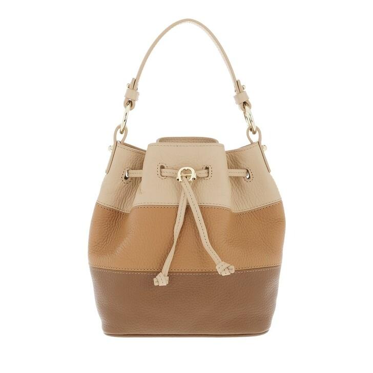 bags, AIGNER, Tara Crossbody Bag Dark Toffee Brown