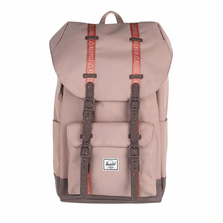 bags, Herschel, Eco Herschel Little America Backpacks Ash Rose/Sparrow/Brick Dust