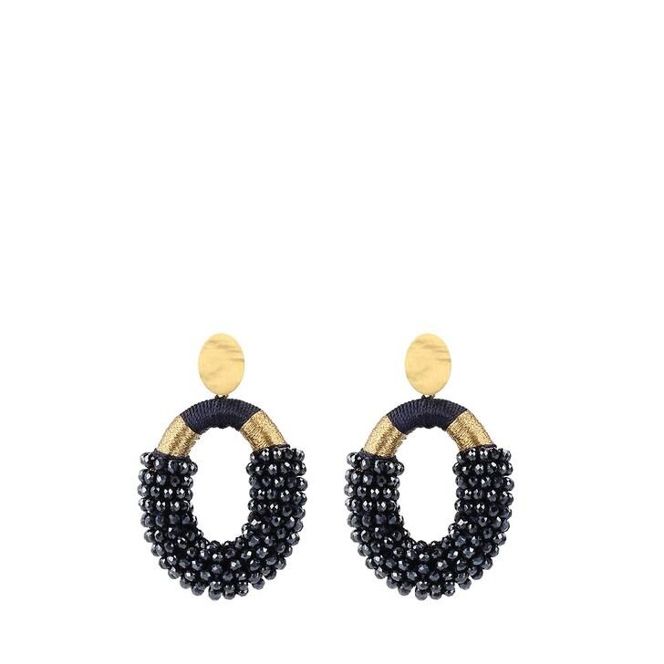Ohrring, LOTT.gioielli, Earrings Glassberry Combi Oval M Yellow Gold