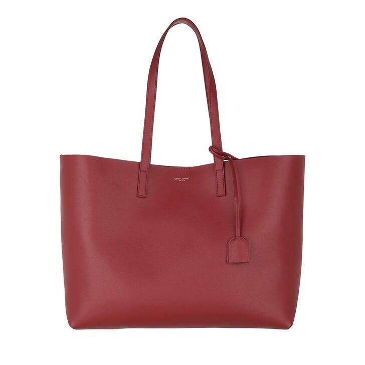bags, Saint Laurent, East West Medium Tote Leather Opyum Red