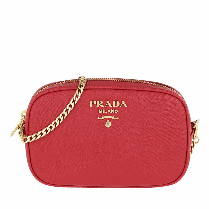 Gürteltasche, Prada, Saffiano Leather Belt Bag Fuoco