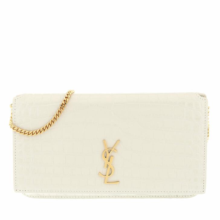 smart_cases, Saint Laurent, Monogram Strap Phone Holder Shiny Leather Crema Soft