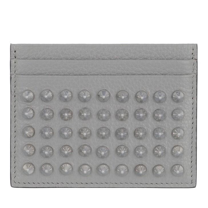 Geldbörse, Christian Louboutin, Kios Simple Card Holder Brest/Metal