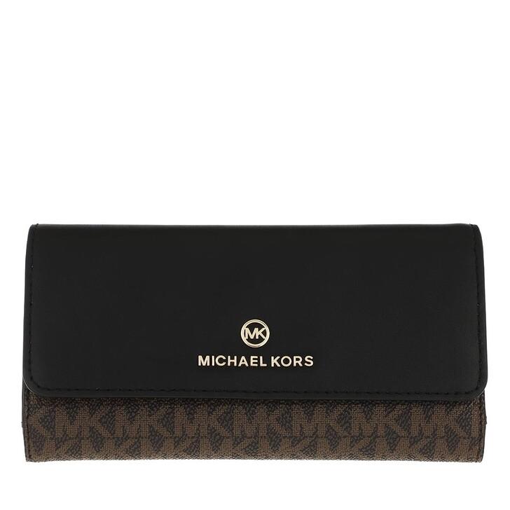 wallets, MICHAEL Michael Kors, Large Trifold Wallet Brown/Black