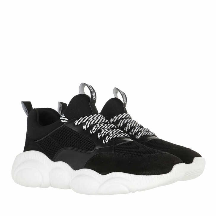 shoes, Moschino, Sneakerd Orso30 Mix  Nero