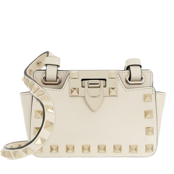 bags, Valentino Garavani, Rockstud Mini Bag Leather Light Ivory