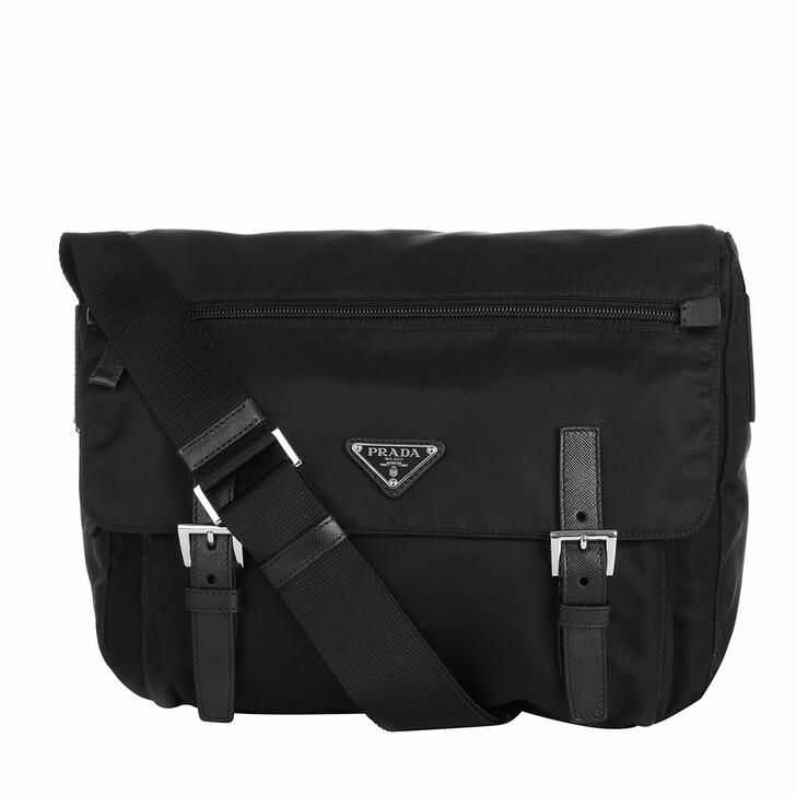 Handtasche, Prada, Vela Messenger Nylon Nero
