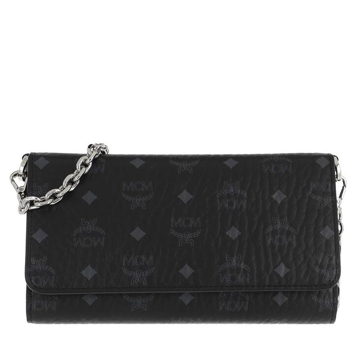 Geldbörse, MCM, Visetos Original Phone Wallet Crossbody Bag Black
