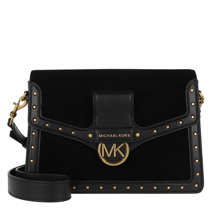 Handtasche, MICHAEL Michael Kors, Jessie Lg Flap Shoulder Black