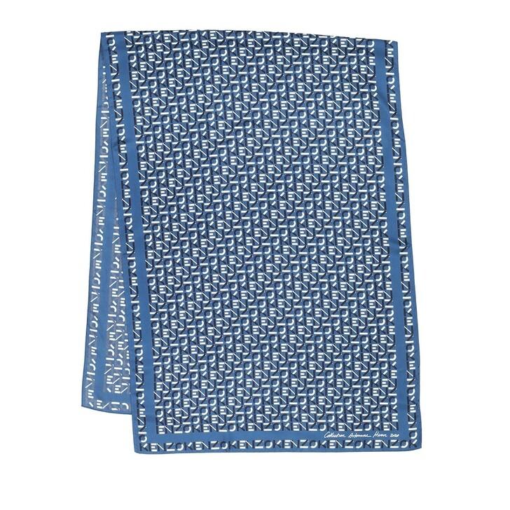 Schal, Kenzo, Monogram Scarf Slate Blue