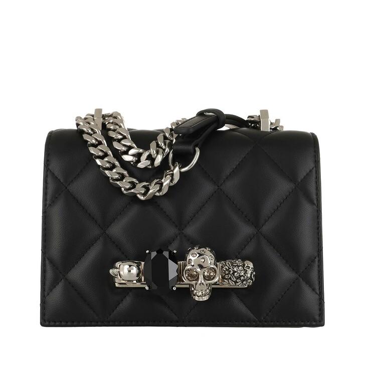 Handtasche, Alexander McQueen, Jewelled Small Satchel Bag Black