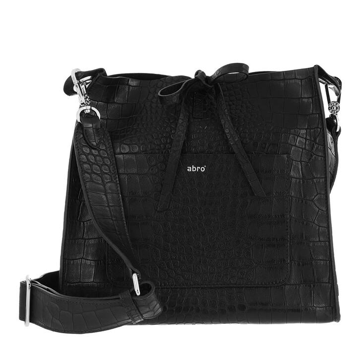 bags, Abro, Crossbody Bag RAQUEL medium  Black/Nickel