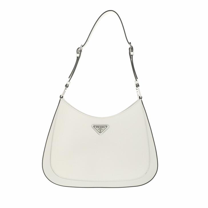 bags, Prada, Cleo Shoulder Bag Leather White