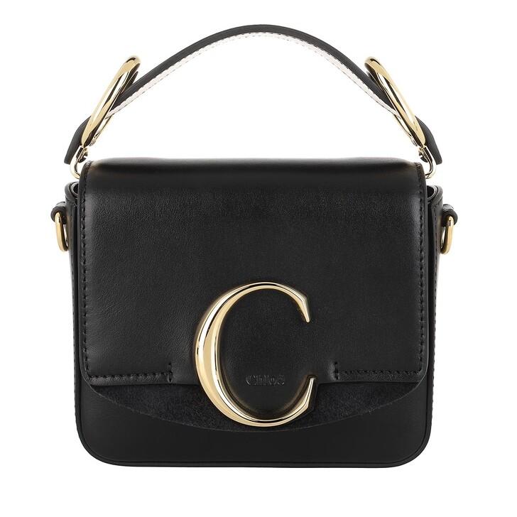 Handtasche, Chloé, C Bag Mini Leather Black
