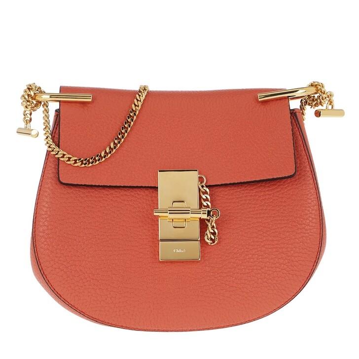 Handtasche, Chloé, Drew Porte Epaule Mini Tawny Orange