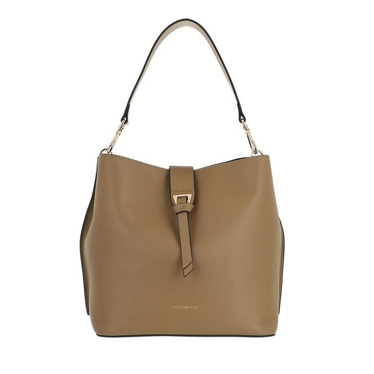 bags, Coccinelle, Alba Handbag Bottalatino Leather Taupe