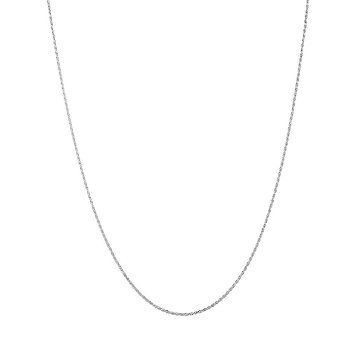 Kette, V by Laura Vann, Rhodium Plated Twisted Rope Chain Silver