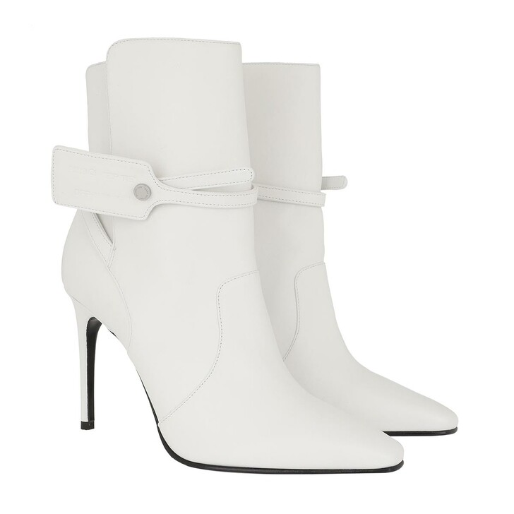 shoes, Off-White, Ziptie Bootie White