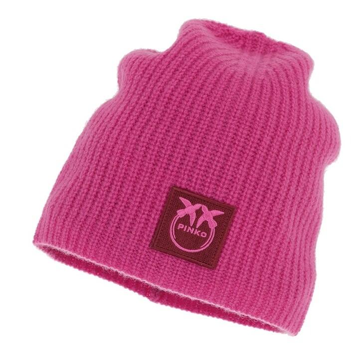 hats, Pinko, Mascali Cuffia 100%Cachemire Magenta
