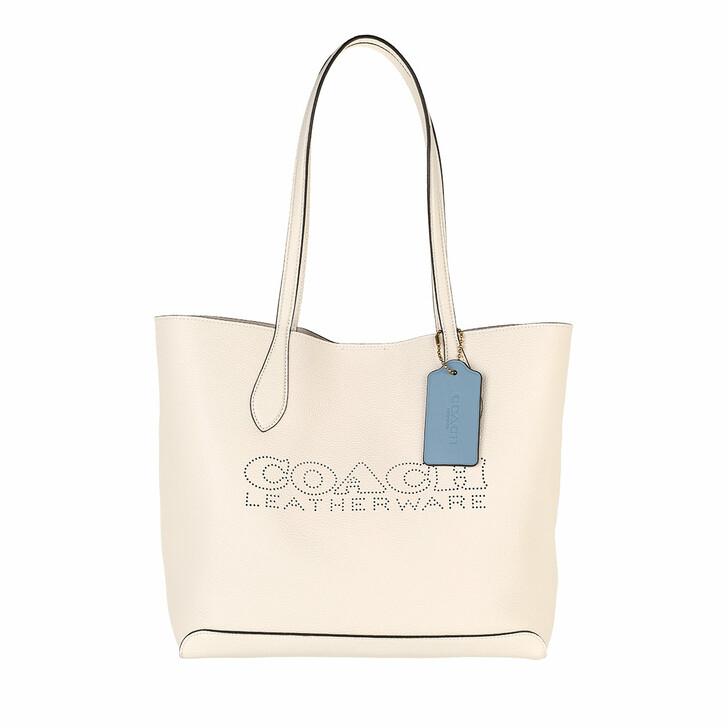 bags, Coach, Leather Kia Tote B4/Chalk Multi