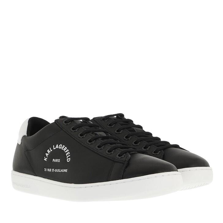 shoes, Karl Lagerfeld, KUPSOLE II Maison Karl Lace Black Leather