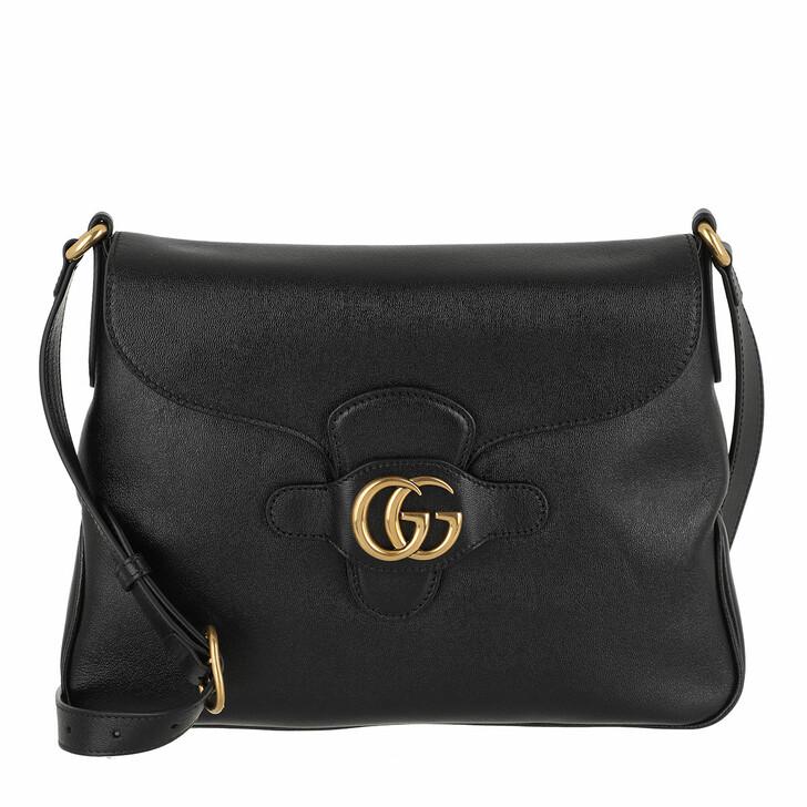 bags, Gucci, GG Dahlia Crossbody Bag Leather Medium Black