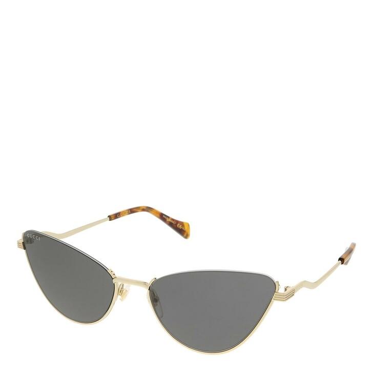 sunglasses, Gucci, GG1006S-001 60 Sunglass Woman Metal Gold-Gold-Grey