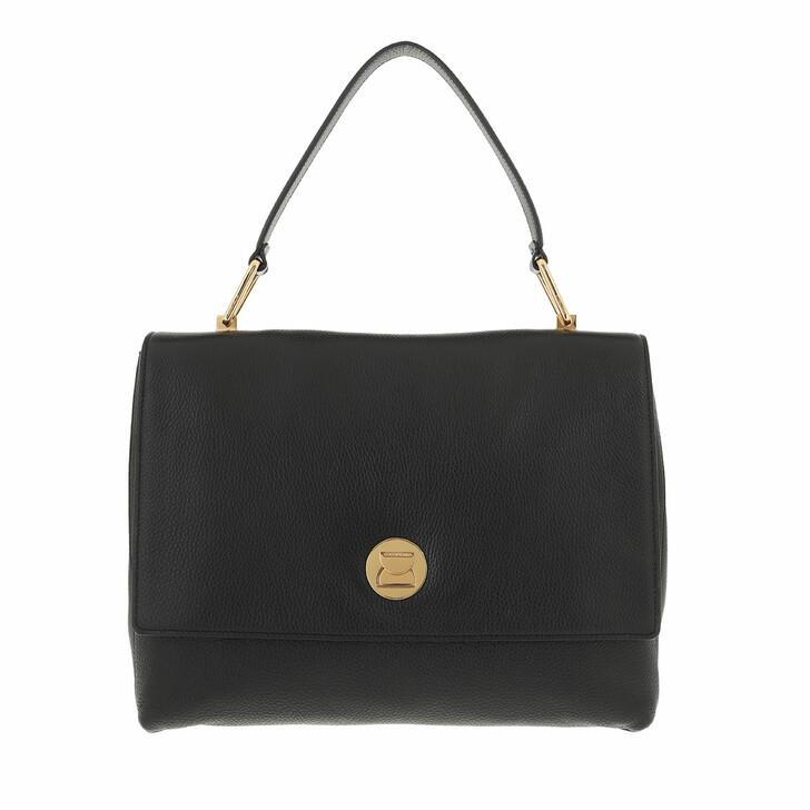 bags, Coccinelle, Liya Handbag Grainy Leather Noir/Noir