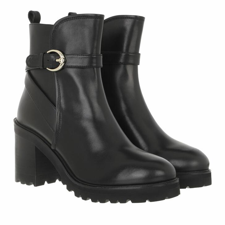 shoes, AIGNER, Block Heel Bootie Black