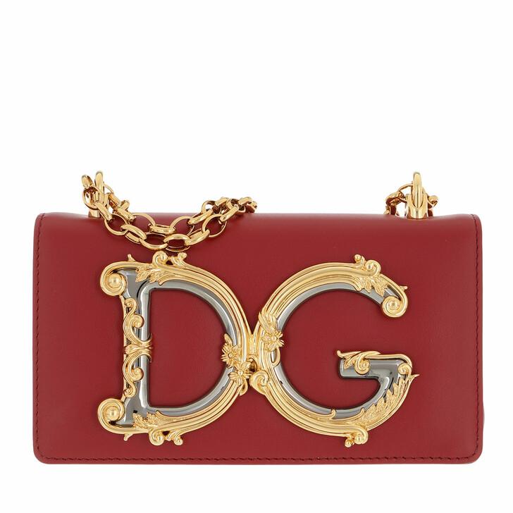 bags, Dolce&Gabbana, Crossbody Leather Rosso Papavero