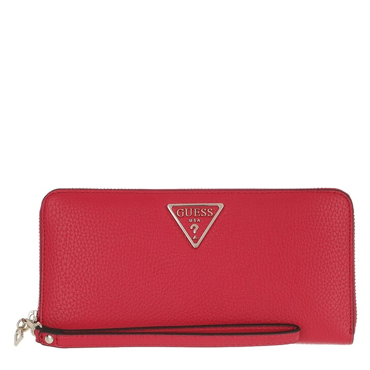 wallets, Guess, Becca Wallet Large Zip Around Red