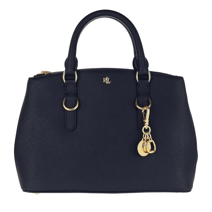 Handtasche, Lauren Ralph Lauren, Zip Satchel Bag Mini Navy