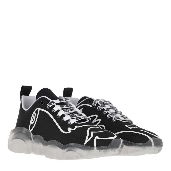 Schuh, Moschino, Orso Sneaker Black White