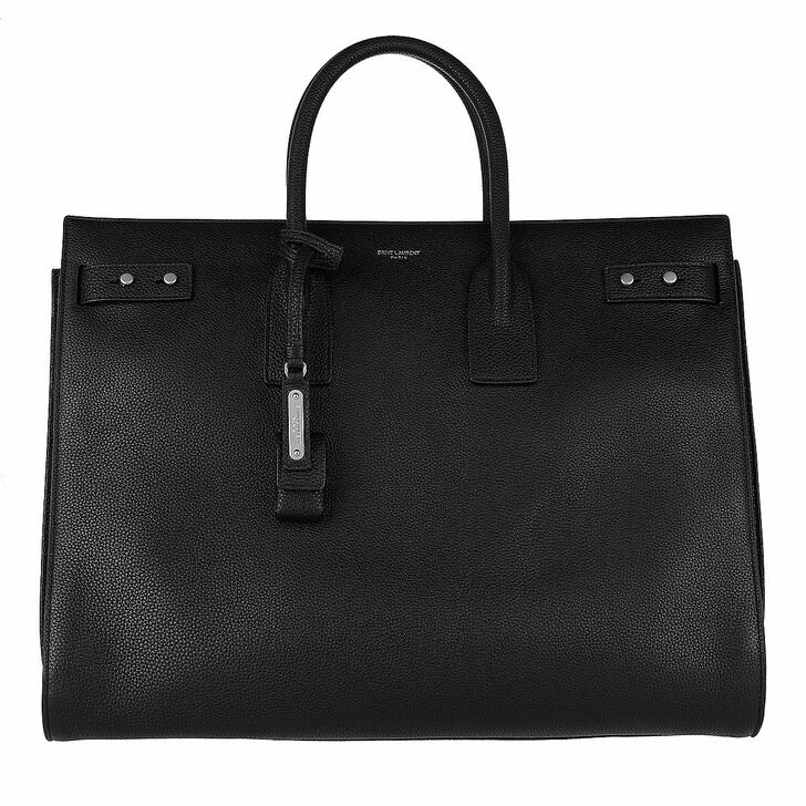 Handtasche, Saint Laurent, Sac De Jour Souple Bag Large Leather Black