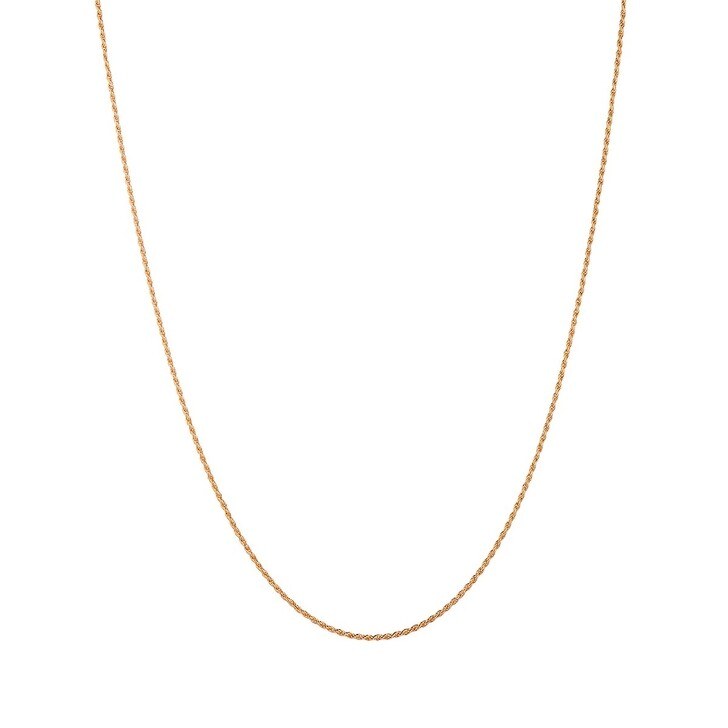 Kette, V by Laura Vann, Gold Plated 18 Carat Rope Chain Yellow Gold