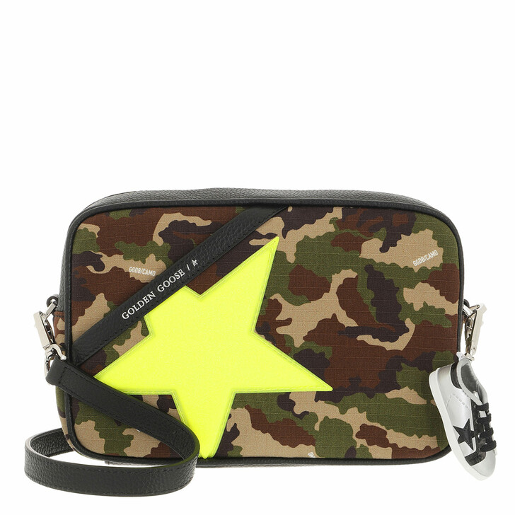 bags, Golden Goose, Star Crossbody Bag Leather Camouflage