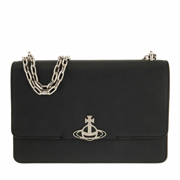 Handtasche, Vivienne Westwood, Debbie Large Bag With Flap Black