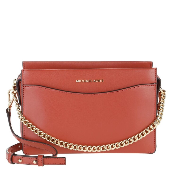 Handtasche, MICHAEL Michael Kors, Jet Set Large Convertible Chain Crossbody Bag Terracotta