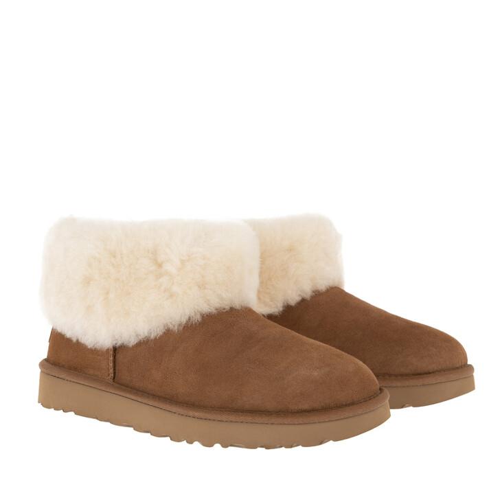 shoes, UGG, W Classic Mini Fluff Chestnut