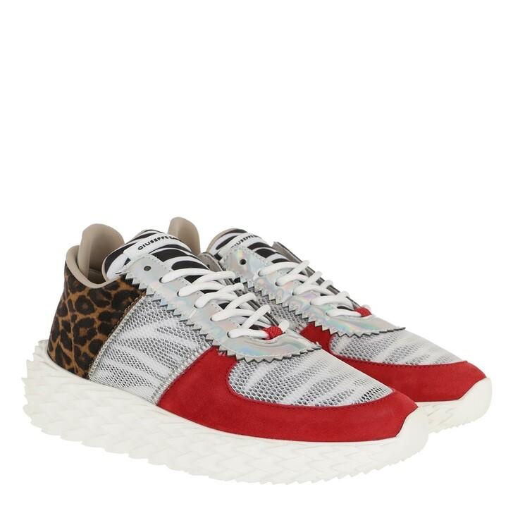 Schuh, Giuseppe Zanotti, Camoscio Sneaker Red