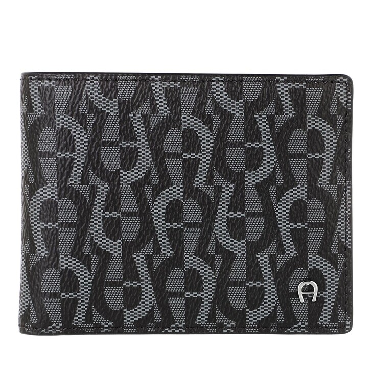 wallets, AIGNER, IconCover Wallet Black