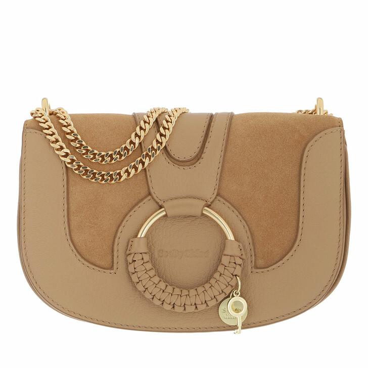 bags, See By Chloé, Hana Crossbody Bag Leather Coconut Brown