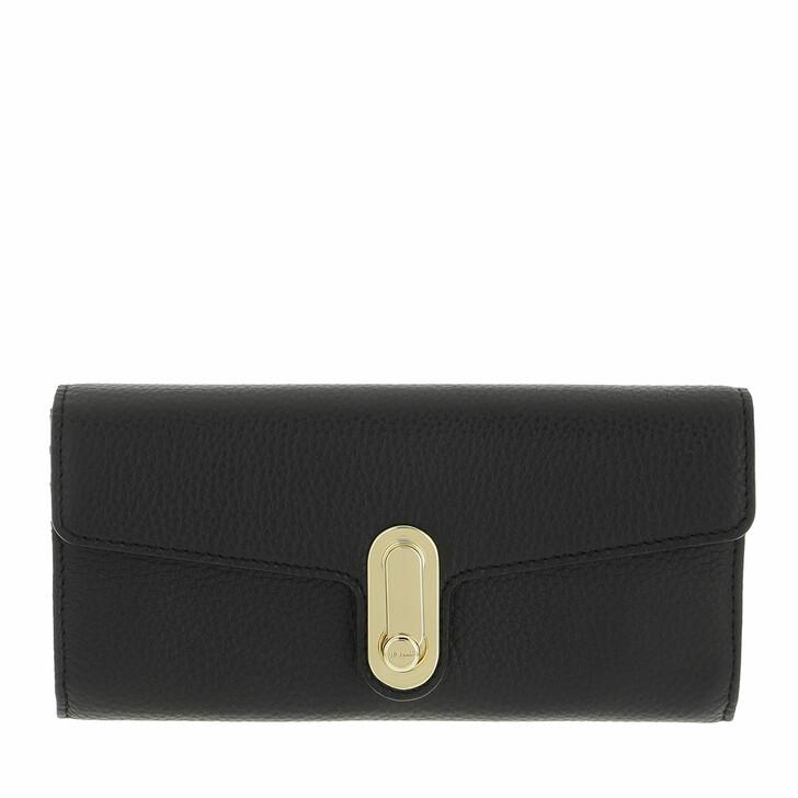 wallets, Ted Baker, Naomet Twist Lock Large Fold Purse Black
