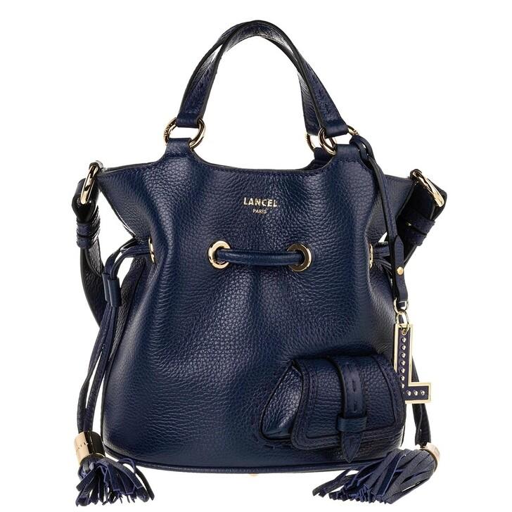 Handtasche, Lancel, Flirt Grained Leather Bucket Bag Small Petrol Blue