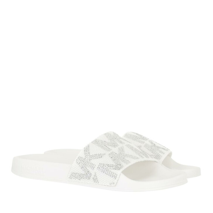 shoes, MICHAEL Michael Kors, Gilmore Slide Optic White