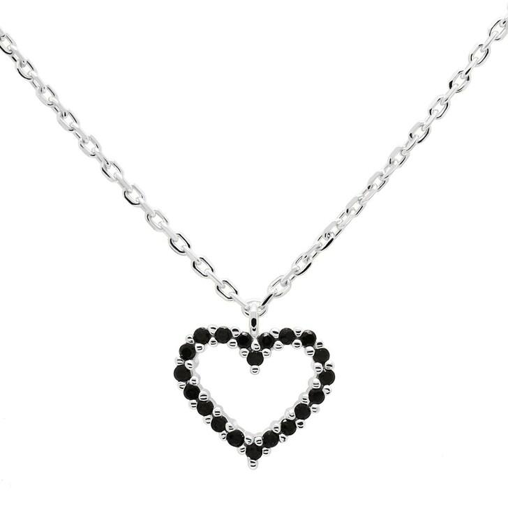 Kette, PDPAOLA, Necklace Heart Black/Silver