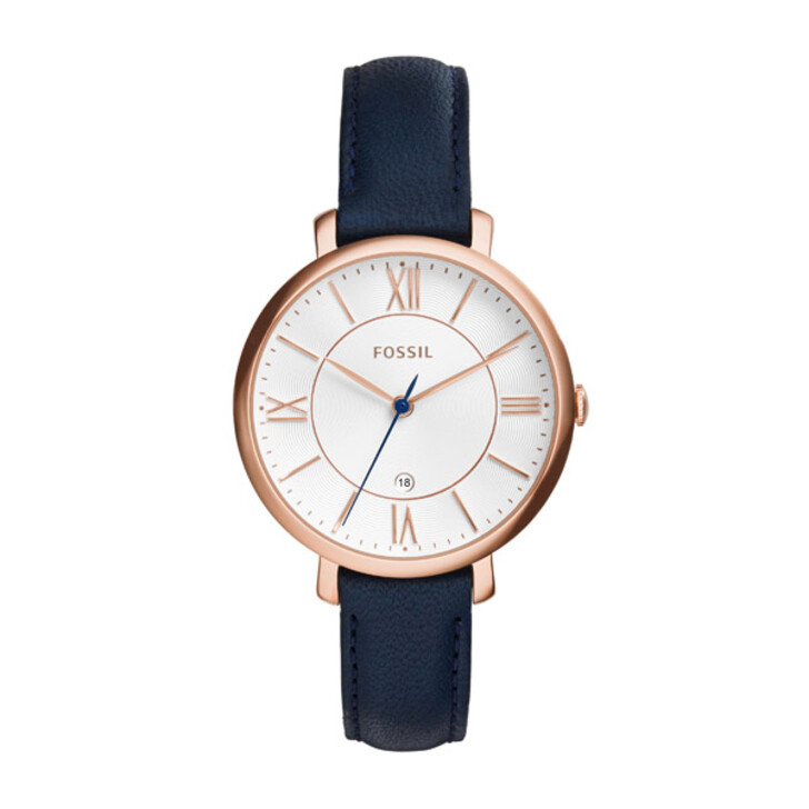 Uhr, Fossil, Jacqueline Watch Leather Navy