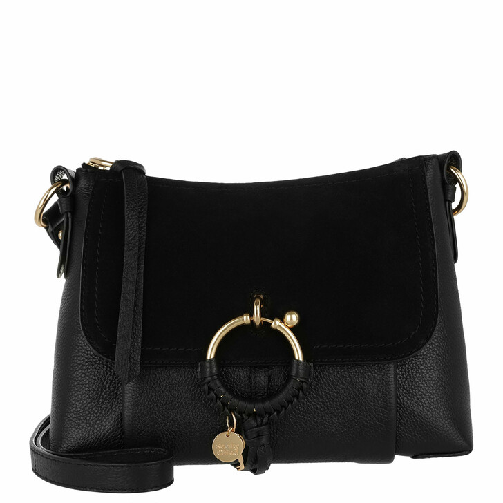 Handtasche, See By Chloé, Joan Grained Shoulder Bag Leather Black